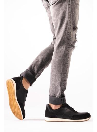 CZ London Hakiki Deri Sneaker Siyah